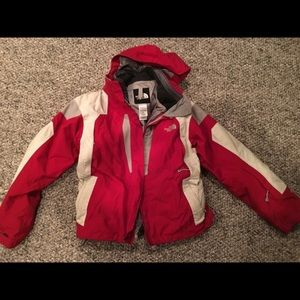 Women's north Face ski jacket small Red